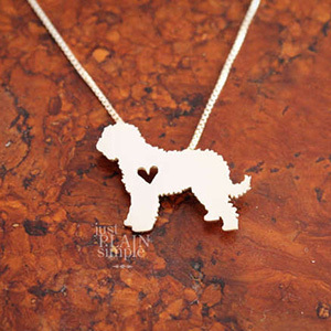 Etsy necklace with goldendoodle pendant photo
