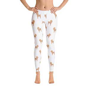Etsy leggings with goldendoodles printed on them photo