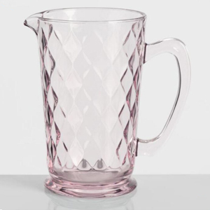 pink pressed glass pitcher from World Market photo