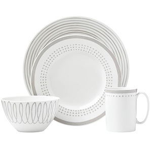 Gray and white dinnerware collection from Williams Sonoma photo