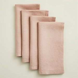 Pink napkins from West Elm photo