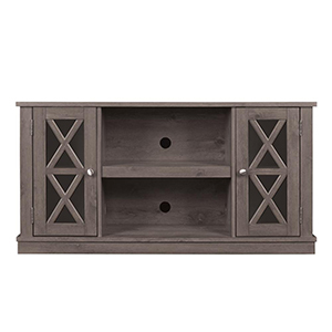 The Home Depot TV stand with shelves and cabinets photo