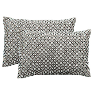 Set of two beaded pillows photo
