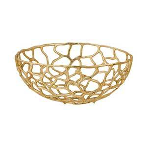 The Home Depot gold decorative bowl photo