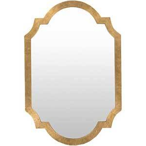 The Home Depot framed gold mirror photo