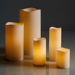 Flameless candles from West Elm photo