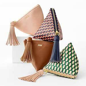Green, Tan, Brown Leather Pouches photo