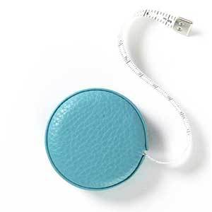 Small Blue Leather Measuring Tape photo