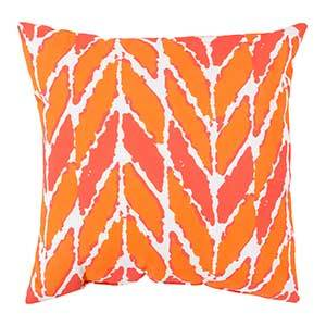 Coral and Orange Outdoor Throw Pillow photo