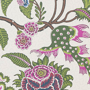 Purple and Green Floral Wallpaper by Sinhala Sidewall photo
