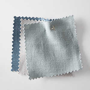 Lightweight Curtain Swatches in Blue, White, and Gray photo
