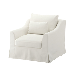White Armchair with Removable Cover from Ikea photo