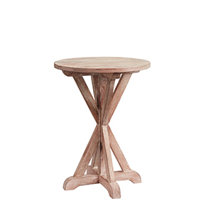 Wooden Side Table in Washed White Finish photo