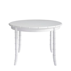 Round White Dining Table photo