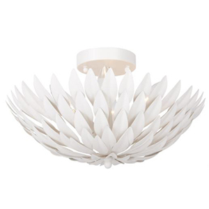 Crystorama Broche Matte White Ceiling Mount photo