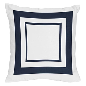Blue-and-White Square Throw Pillow photo