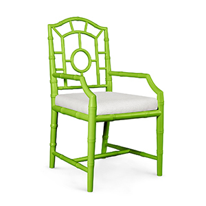 Lime Green Bamboo Chair with Arms photo