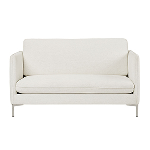White Apartment Sofa with Removable Legs photo