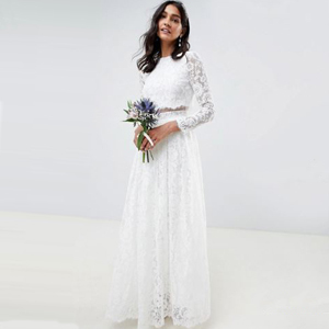White lace two-piece wedding dress from Asos photo