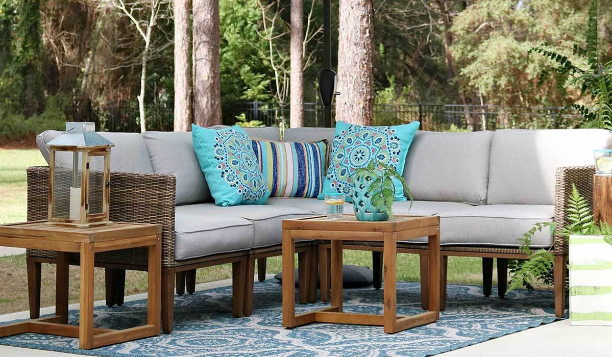 This Month The Network Shared How They Mix Match Better Homes Gardens Outdoor Furniture Available Exclusively At To Create Oases