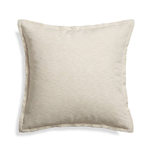 Natural square throw pillow from Crate & Barrel photo