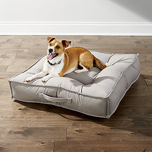 Crate and Barrel extra-large white dog bed photo