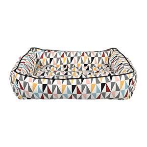Target triangle multicolor pet bed photo