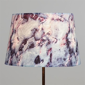 Purple, pink, and silver marbled lampshade from World Market photo