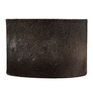 Black cowhide drum lampshade from Pottery Barn photo