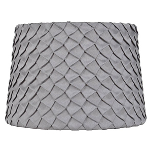 Better Homes and Gardens gray lampshade with multiple layers of pleats photo
