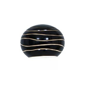 Black sphere desk lampshade with etched glass photo