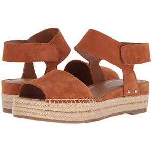 c2b8cafed5a2 Brown suede platform sandals with ankle strap. photo