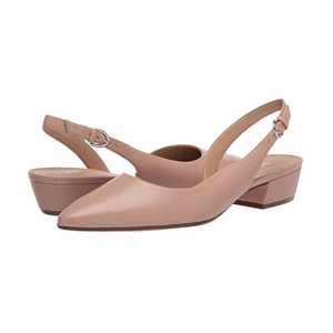 Beige closed-toe shoes with ankle strap and low heel from Zappos photo