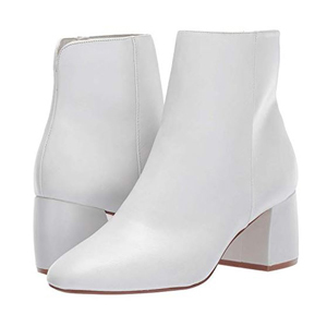 White ankle boots from Zappos photo