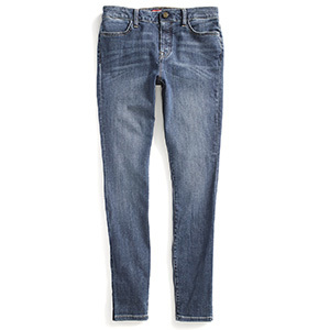 Tommy Hilfiger's Adaptive dark-wash jegging features a velcro closure and adjustable waist. photo
