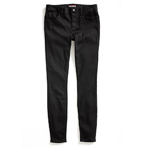 Tommy Hilfiger Adaptive black-wash jeggings with a velcro closure and magnetic fly. photo