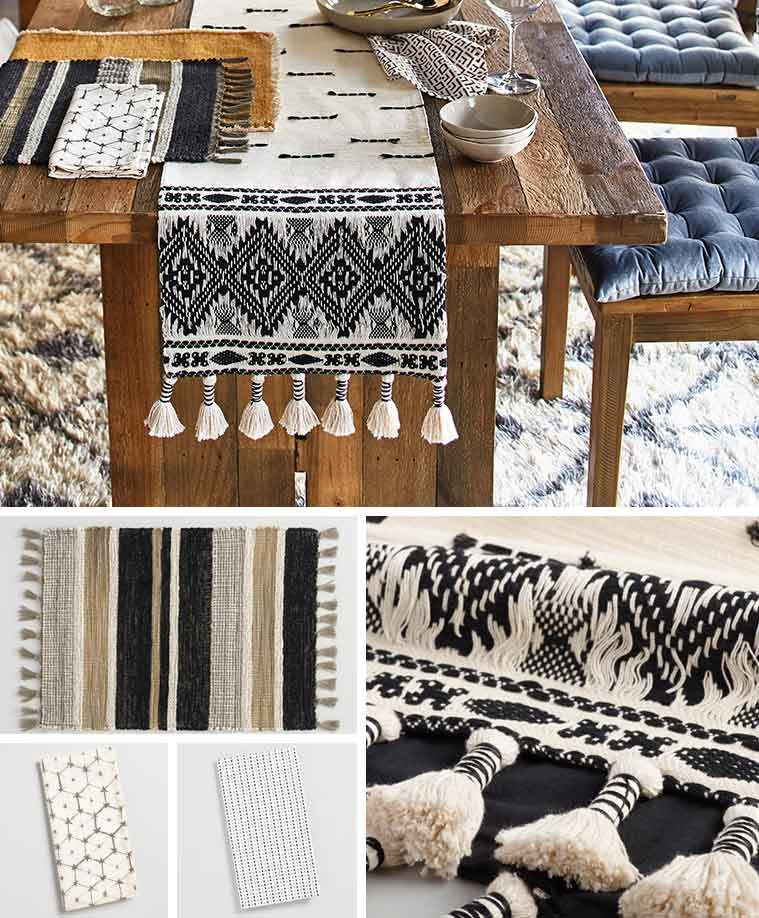 World Market table runner, place mats, and linen napkins photo