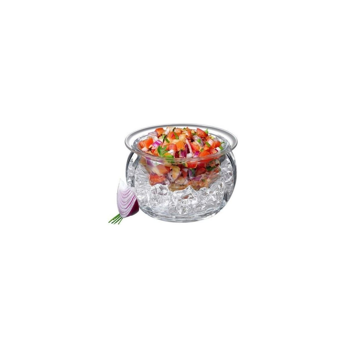 Houzz serve bowl with built-in ice bucket photo