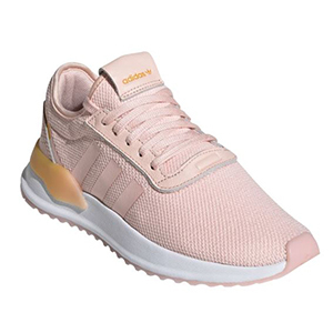 Light pink lace-up Adidas lightweight running shoe from Nordstrom photo