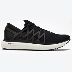 Black Reebok lightweight running shoe with white base and Floatride Foam technology from Reebok photo