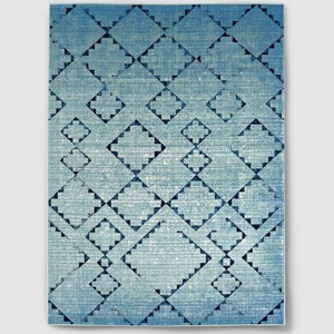 Target blue ombre outdoor rug with geometric pattern photo