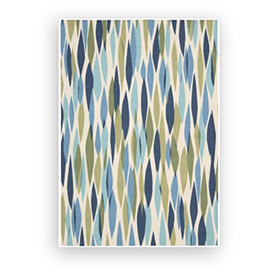 Overstock outdoor area rug with green and blue design photo