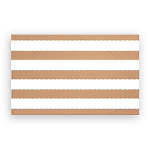 OVerstock fleece throw blanket with brown and white stripes photo