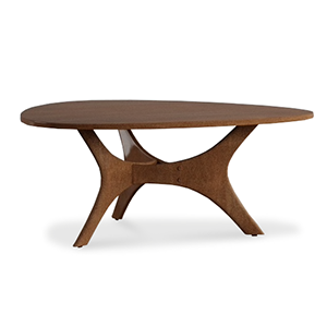 Wooden coffee table photo