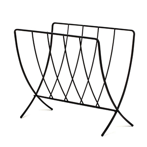 Metal magazine rack from The Home Depot photo