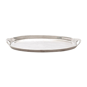 Home Depot silver oval serving tray photo