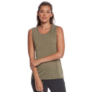 Plain olive green workout tank. photo