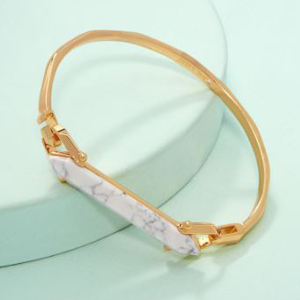 gold bracelet with Calcite accent photo