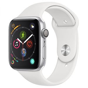 Apple Watch with white sport band photo