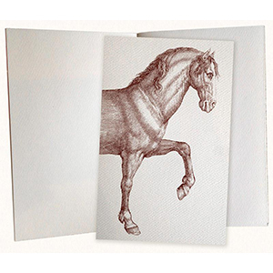 Notebook with a horse prancing on it photo